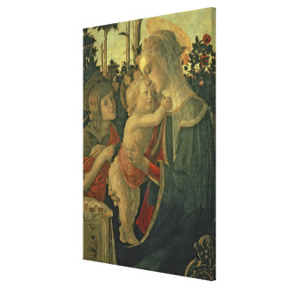 Madonna and Child with St. John the Baptist (oil o Canvas Print