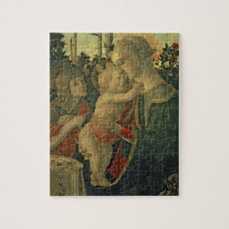 Madonna and Child with St. John the Baptist (oil o Jigsaw Puzzle