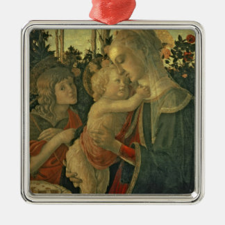 Madonna and Child with St. John the Baptist (oil o Metal Ornament