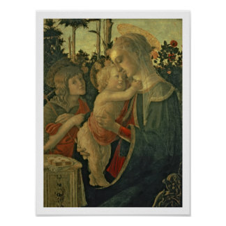 Madonna and Child with St. John the Baptist (oil o Poster