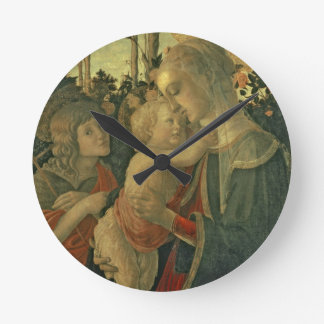 Madonna and Child with St. John the Baptist (oil o Round Clock