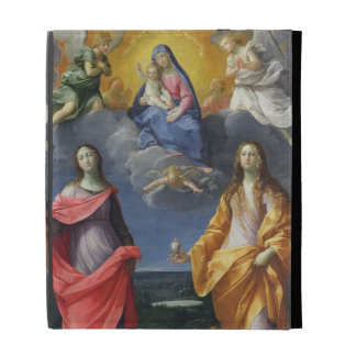 Madonna and Child with St. Lucy and Mary Magdalene iPad Case