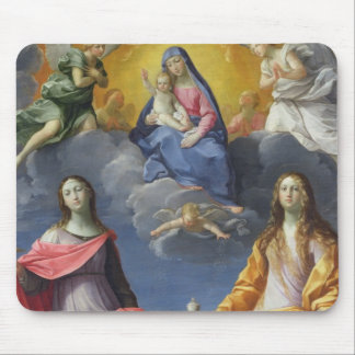 Madonna and Child with St. Lucy and Mary Magdalene Mouse Pad