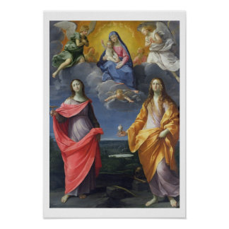 Madonna and Child with St. Lucy and Mary Magdalene Poster