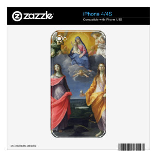 Madonna and Child with St. Lucy and Mary Magdalene Skin For iPhone 4