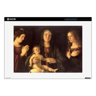 "Madonna and Child with St. Mary Magdalene and St. Decals For 15"" Laptops"