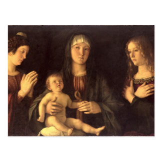 Madonna and Child with St. Mary Magdalene and St. Postcard