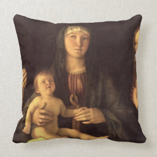 Madonna and Child with St. Mary Magdalene and St. Throw Pillow