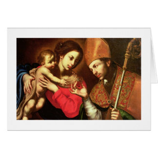 Madonna and Child with St. Zenobius Card