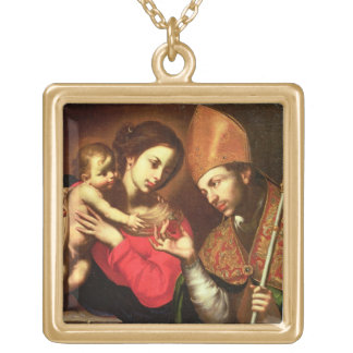Madonna and Child with St Zenobius Custom Necklace