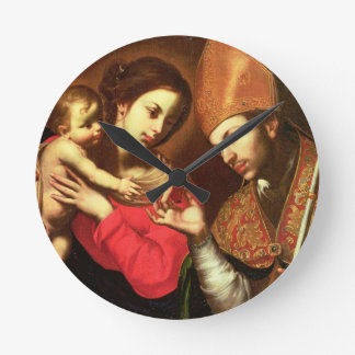 Madonna and Child with St. Zenobius Round Clock