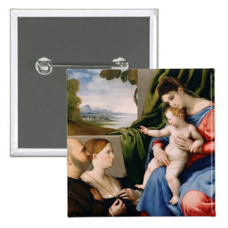 Madonna and Child with the Infant Saint John Pinback Buttons
