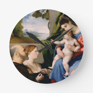 Madonna and Child with the Infant Saint John Round Wallclock
