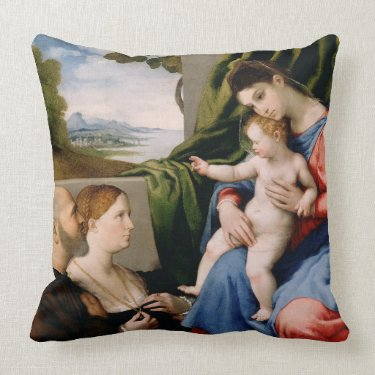 Madonna and Child with the Infant Saint John Pillows