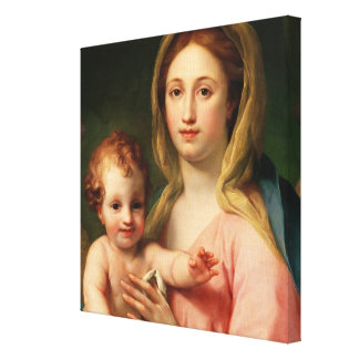 Madonna and Child with Two Angels, 1770-73 Canvas Print