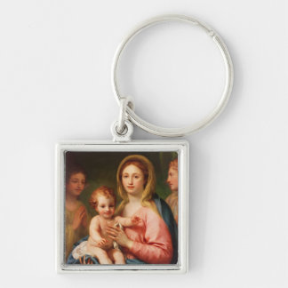 Madonna and Child with Two Angels, 1770-73 Keychain