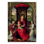 Madonna and Child with two Angels Greeting Cards