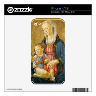Madonna and Child with Two Donors, 1525-1530 Decals For iPhone 4S