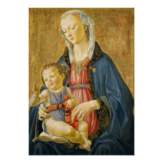 Madonna and Child with Two Donors, 1525-1530 Poster