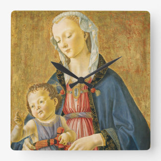 Madonna and Child with Two Donors, 1525-1530 Square Wall Clock