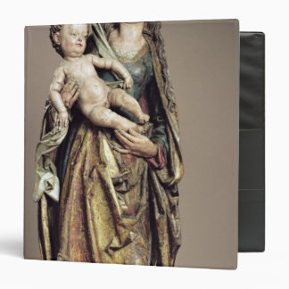 Madonna and Child, Wooden Sculpture 3 Ring Binder