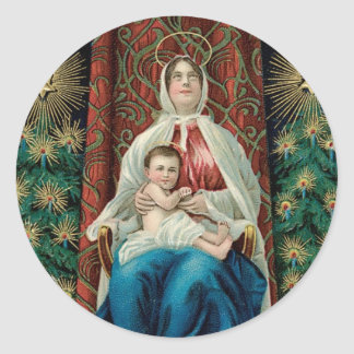 Madonna and Christ Child Classic Round Sticker