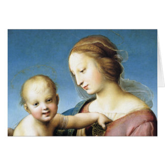 Madonna and Christ Child Sitting Outside Card