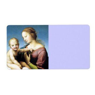 Madonna and Christ Child Sitting Outside Shipping Label