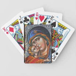 Madonna and Infant Jesus Bicycle Playing Cards
