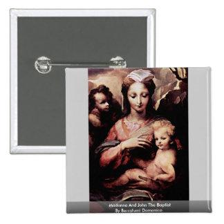 Madonna And John The Baptist By Beccafumi Domenico Buttons