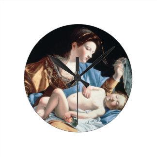 Madonna and sleeping Christ child Round Wall Clock