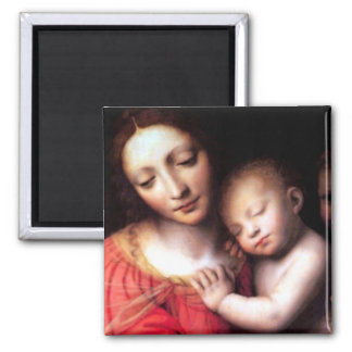 Madonna and Sleeping Christ Child Magnet