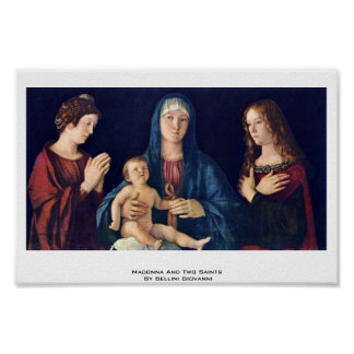 Madonna And Two Saints By Bellini Giovanni Print
