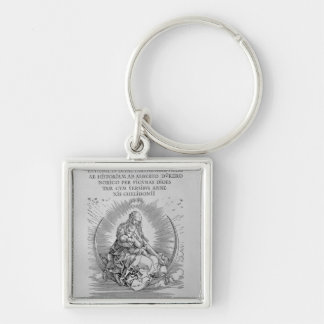 Madonna as nursing mother and divine being keychain