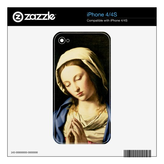 Madonna at Prayer (oil on canvas) iPhone 4 Decal
