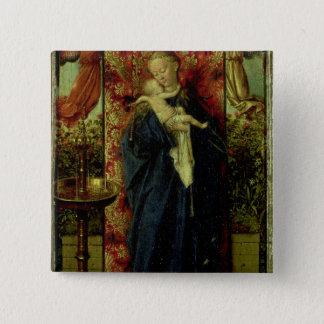 Madonna at the Fountain, 1439 Pinback Button