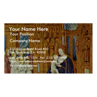 Madonna At The Portal Of A Cathedral By Fouquet Je Business Cards
