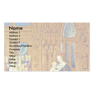 Madonna At The Portal Of A Cathedral By Fouquet Je Business Card