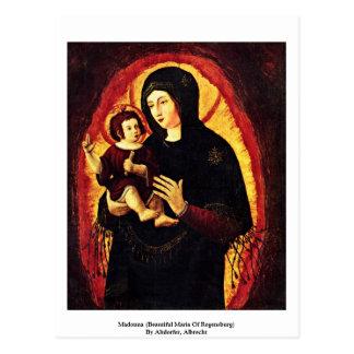 Madonna Beautiful Maria Of Regensburg Post Card