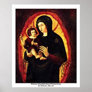 Madonna (Beautiful Maria Of Regensburg) Print