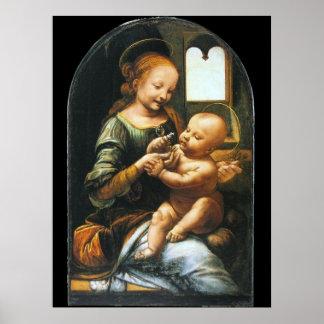 Madonna Benois by Leonardo da Vinci Poster