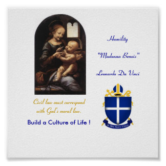 Madonna Benois - Poster - Diocese - Customized