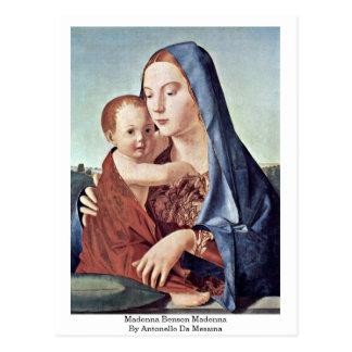 Madonna Benson Madonna By Antonello Da Messina Postcards