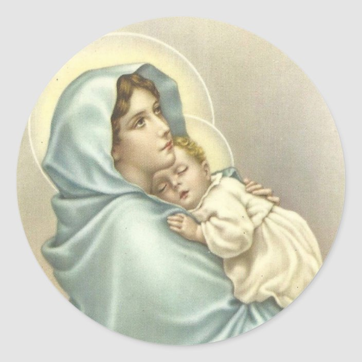 Madonna Religious Christmas Catholic Virgin Mary Stickers Scrapbook Paper Crafts