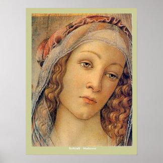 Madonna - Botticelli Poster