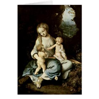 Madonna By Antonio Allegri Da Correggio Greeting Cards
