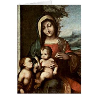 Madonna By Antonio Allegri Da Correggio Greeting Card