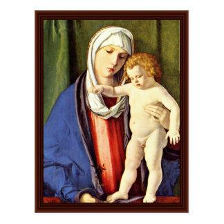 Madonna By Bellini Giovanni Postcard