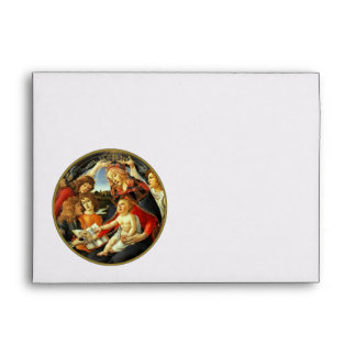 Madonna by Botticelli. Christmas Envelopes