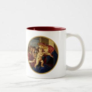 Madonna by Botticelli. Christmas Gift Mug